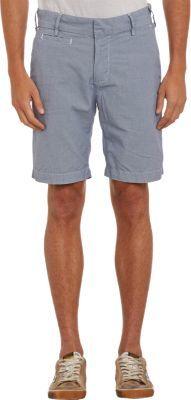 Save Khaki Micro Houndstooth-Print Bermuda Shorts