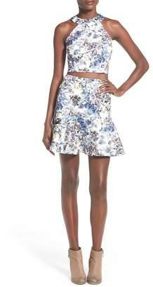 MODISTE DRESSES Floral Two-Piece Halter Dress