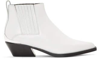 Rag & Bone White Westin Boots