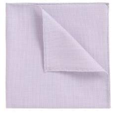 BOSS Hugo Rolled-hem pocket square in cotton-blend jacquard One Size Purple