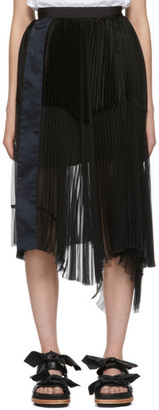 Sacai Black Pleated Skirt