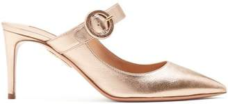 Aquazzura Blossom 75 Mary Jane Mules - Womens - Gold