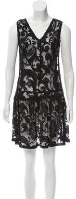 Anna Sui Sleeveless Lace Dress