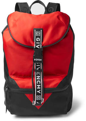 24c9e19809 Givenchy Logo-Jacquard And Leather-Trimmed Colour-Block Nylon Backpack