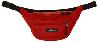 Balenciaga Red Nylon Explorer Belt Pouch