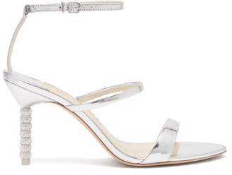 d194e16d3 Sophia Webster Rosalind Crystal Embellished Leather Sandals - Womens -  Silver