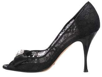 Dolce & Gabbana Lace Peep-Toe Pumps