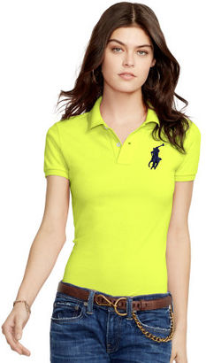 Polo Ralph Lauren Skinny-Fit Big Pony Polo Shirt $98 thestylecure.com