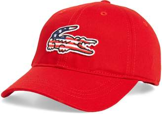 Lacoste Big Croc USA Applique Baseball Cap