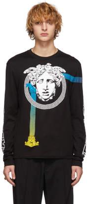 Versace Black Medusa Long Sleeve T-Shirt