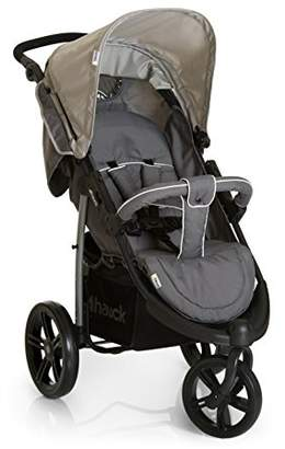 Hauck Viper SLX, 3 Wheel Pushchair From birth Up to 22 kg, Buggy with Lying Position, Height Adjustable Handle, Large Hood, Bumper Bar, Shopping Basket, Smoke/Grey
