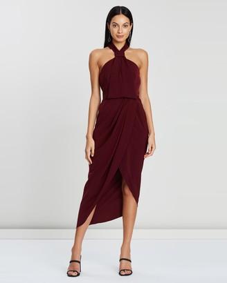Shona Joy Core Knot Draped Dress