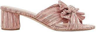 Loeffler Randall Emilia Rose Gold Slide Sandals