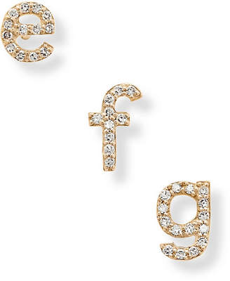 Stone And Strand STONE AND STRAND - Alphabet 14-karat Gold Diamond Earring - A