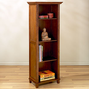 Riley 4-Shelf Mahogany Bookcase