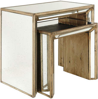 OKA Set of Two Versailles Nested Side Tables - Antique Gold