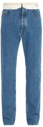 Maison Margiela Deconstructed Straight Leg Jeans - Mens - Blue