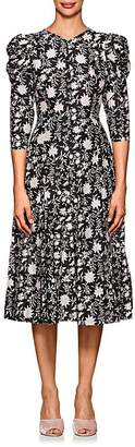Ulla Johnson Women's Fontaine Floral Cotton-Silk Dress