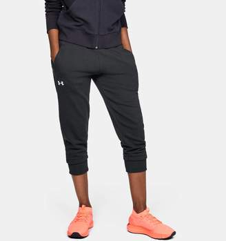 Under Armour Women's UA Slim Leg Fleece Crop
