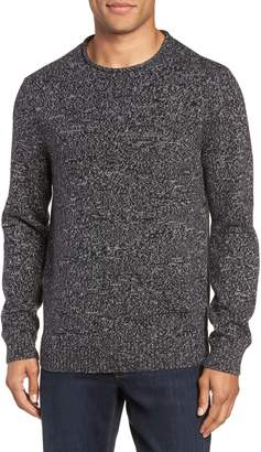 Nordstrom Marled Cotton & Cashmere Roll Neck Sweater