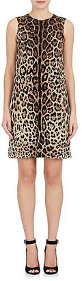 Dolce & Gabbana Women's Leopard-Print Silk-Blend Cady Shift Dress