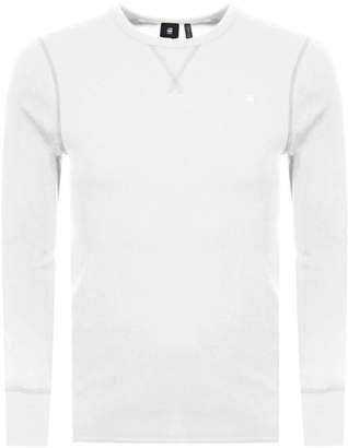G Star Raw Long Sleeve Korpaz T Shirt Cream