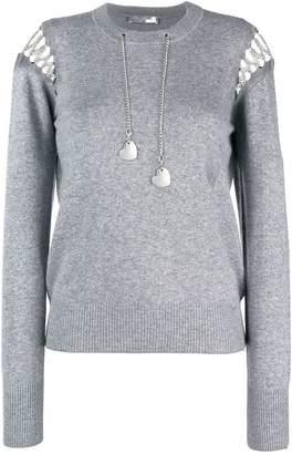 Love Moschino cut-detail chain sweater