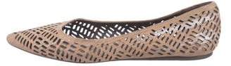 Elizabeth and James Pointed-Toe Laser Cut Flats
