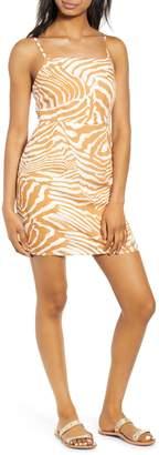 MinkPink Pretty Wild Zebra Print Minidress