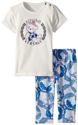 Versace Kids Two-Piece Set with Bear Logo Graphic Girl's Active Sets