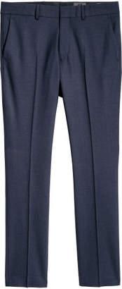 H&M Wool Suit Pants Skinny fit - Blue