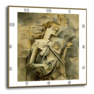 3dRose Picasso Painting Girl With Mandolin 1917, Wall Clock, 13 by 13-inch