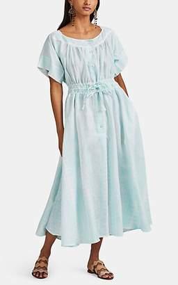 Thierry Colson Women's Tania Floral Linen Midi-Dress - Aqua