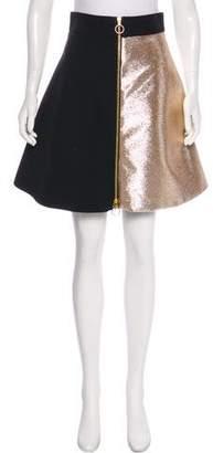 Fausto Puglisi Lurex A-Line Skirt
