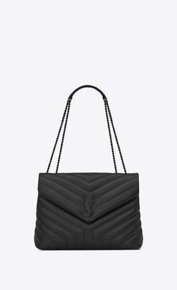 Saint Laurent Loulou Medium In Matelasse Y Leather