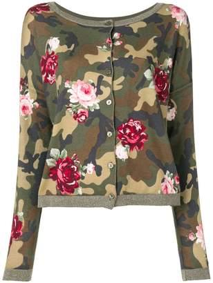 Twin-Set floral camo cardigan