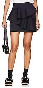 Etoile Isabel Marant Women's Doali Ruffled Cotton Miniskirt-Navy