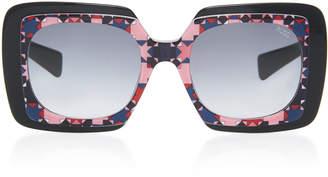 Emilio Pucci Sunglasses Geometric Square-Frame Acetate Sunglasses