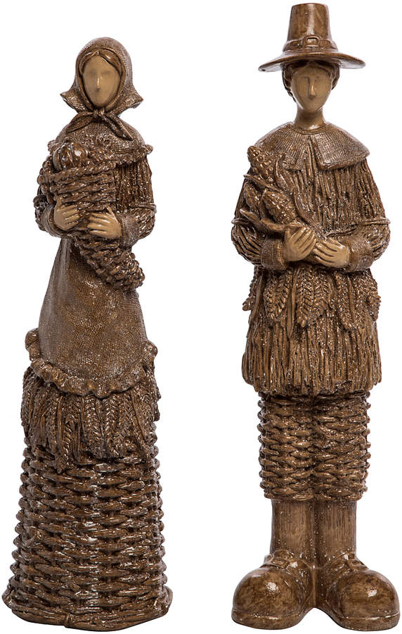 Carved Pilgrim Figurine Set