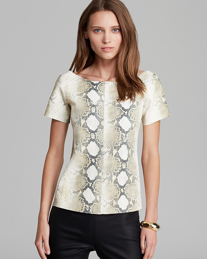 Patterson J. Kincaid PJK Tee - Hunter Snakeskin Embossed Leather