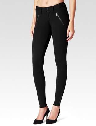 Paige Dover Zip Ankle Pant - Black Ponte