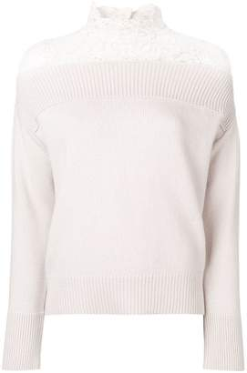 Schumacher Dorothee lace panel sweater
