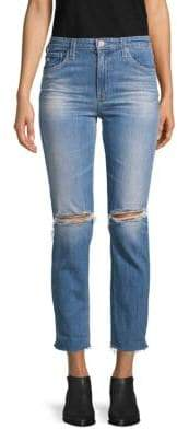 AG Jeans The Isabelle High-Rise Destroyed Crop Jeans