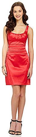B. Darlin Pleated Satin Dress