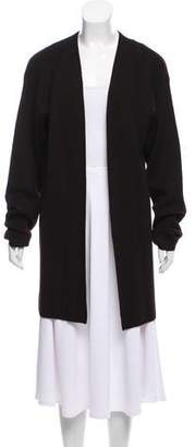 Calvin Klein Collection Wool Rib Knit Cardigan