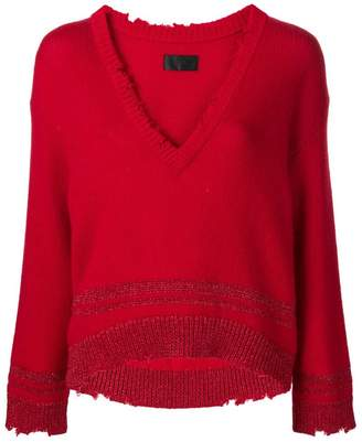 RtA V-neck boxy sweater