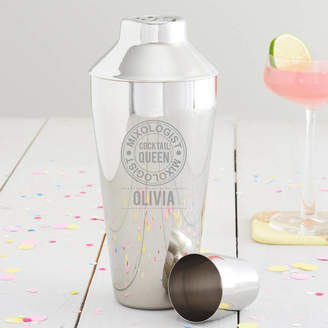 Becky Broome Personalised 'Cocktail Queen' Motif Shaker