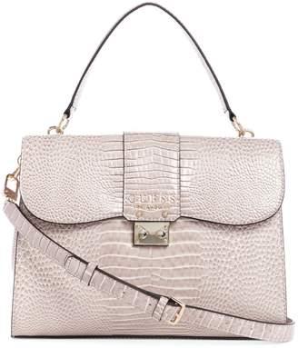 GUESS Cleo Croc Top Handle Bag