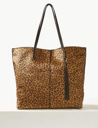 d54843c0ef2 Marks and Spencer Animal Print Shopper Bag