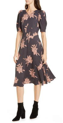 Rebecca Taylor Tiger Lily Puff Sleeve Dress